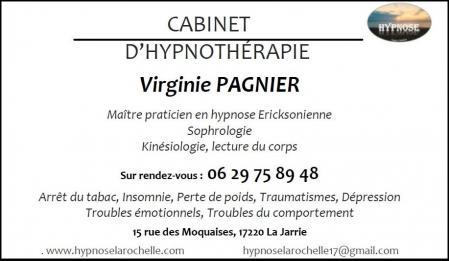 Carte de visite virginie pagnier hypnose la rochelle hypnotherapie sophrologie 1